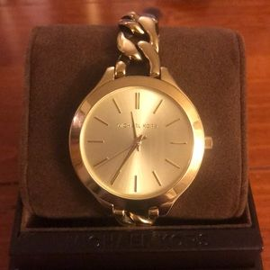 Gold Michael Kors Women's Link watch, with tag!